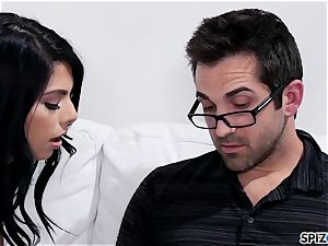 Spizoo - Gina Valentina taking her step father's sausage