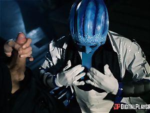 Space porn parody with warm alien Rachel Starr