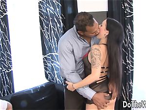 Trashy wife pounded by ebony in Front of hubby