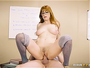 Classroom cum activity with mischievous ginger-haired lecturer Penny Pax