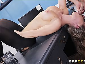 Nicole Aniston is the ideal nasty secretary in an office plumbing episode