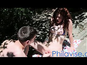 PHILAVISE- We found a redhead nature teen in the forest