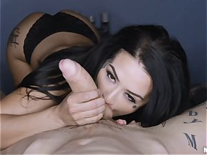 Katrina Jade point of view honeypot fuck whilst eyes covered