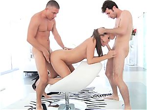 wildly scorching hotty Tori black does double intrusion for the first-ever time