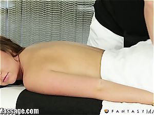 wifey Maddy O'Reilly gets a massage and some jizz