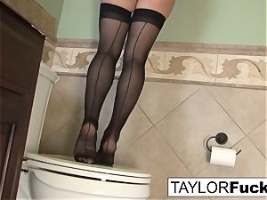 Taylor Vixen Looks additional warm In black stocking