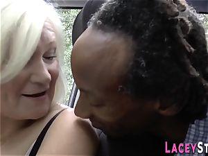 Gran in bi-racial 3way