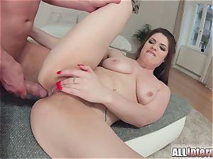 Allinternal black-haired tastes her anal invasion creampie