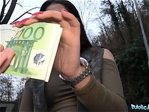 Public Agent Outdoor orgasms for Serbian ultra-cutie