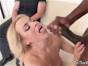 steaming blondie wife thick ebony boner