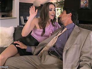 Tori ebony satisfies her man's rod making it really rock-hard to handle