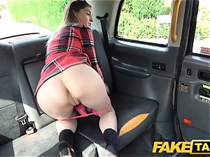 faux taxi small Rhiannon Ryder likes deep-throat