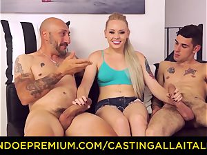 CASTNG ALLA ITALIANA - blond vixen tough double penetration romp