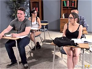 buxomy professor Ava Addams is banged by her college girl