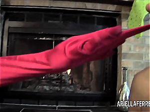 lezzie christmas exclusive with ariella ferrera