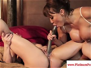 Ava Devine and Brandi May play with their sapphic playthings