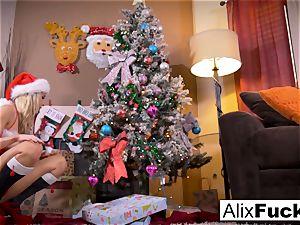 Christmas all girl hookup between 2 super-fucking-hot dolls