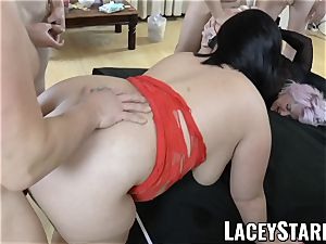 LACEYSTARR - Lacey Starr and her friends gang-fucked