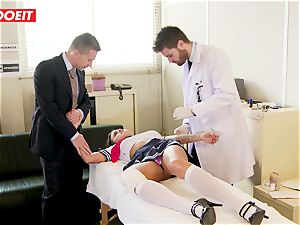 college girl gets abused hard-core by schoolteacher and doctor