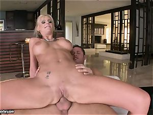 rectal lover Phoenix Marie bounces her ass on a gigantic meatpipe